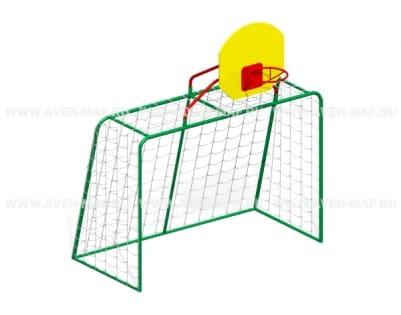 Ворота футбольные с баскетбольным кольцом И-1