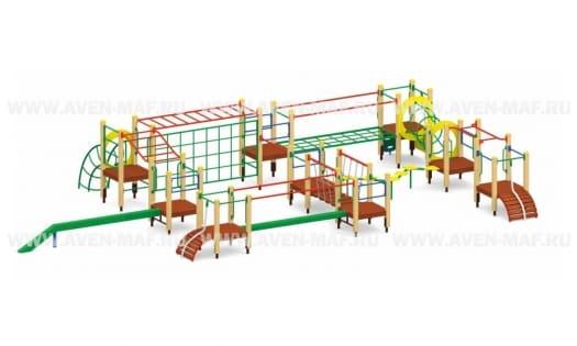 Спортивный комплекс на деревянных столбах Т-69д