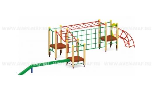 Спортивный комплекс на деревянных столбах Т-69-4 д
