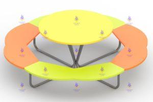 1416 Столик «Солнышко» Размер 1770х1770х550