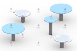 1499 Детские столики-стульчики Рыбки Размер 2700х2700х500