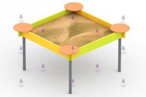 1290 Песочница простая для детей с ОВ