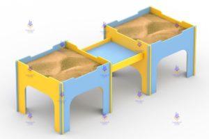 1291 Песочница двойная для детей с ОВ